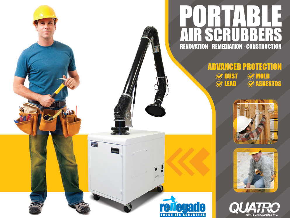 Portable Air Scrubber Dust Mold Lead Asbestos