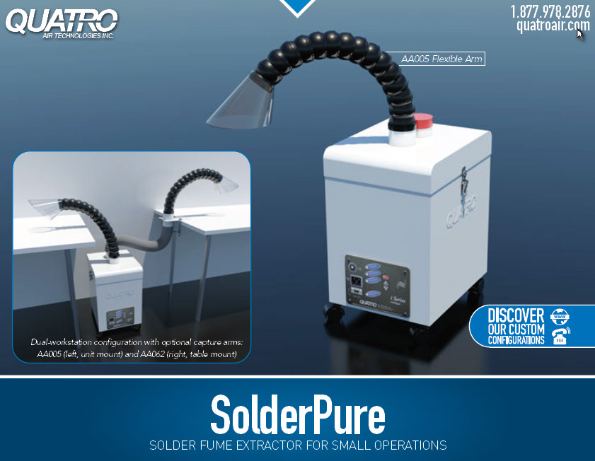 Solder Fume Extraction Chemical Odor Air Filtration